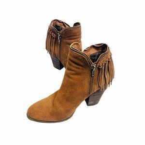 DV by Dolce Vita Womens Fringe Heel Ankle Boot 6.5